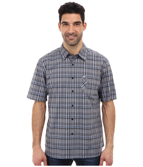 Quiksilver - Quadra Island S/S Woven Shirt (Black) Men's Clothing