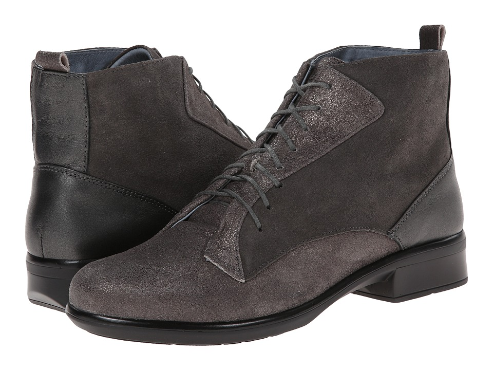 Naot Footwear - Mistral (Gray Shimmer Leather/Gray Suede/Metallic Road Leather) Women's Boots
