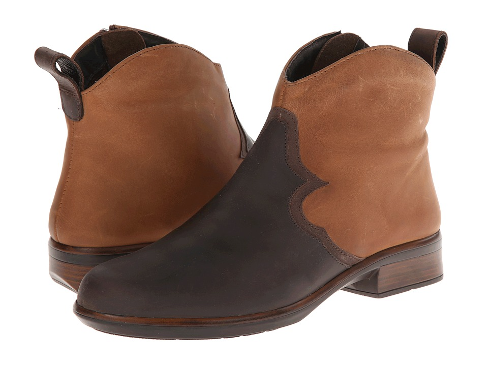 Naot Sirocco (Crazy Horse Leather/Saddle Brown Leather/Carob Brown Leather) Women