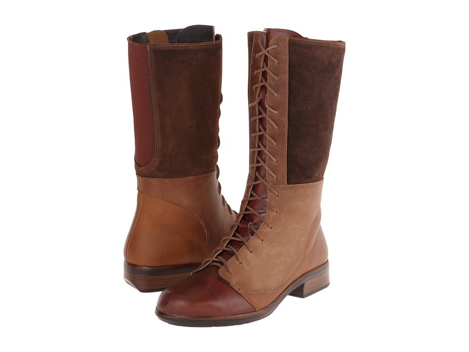 Naot Footwear - Tide (Luggage Brown Leather/Chestnut Leather/Seal Brown Suede) Women's Boots