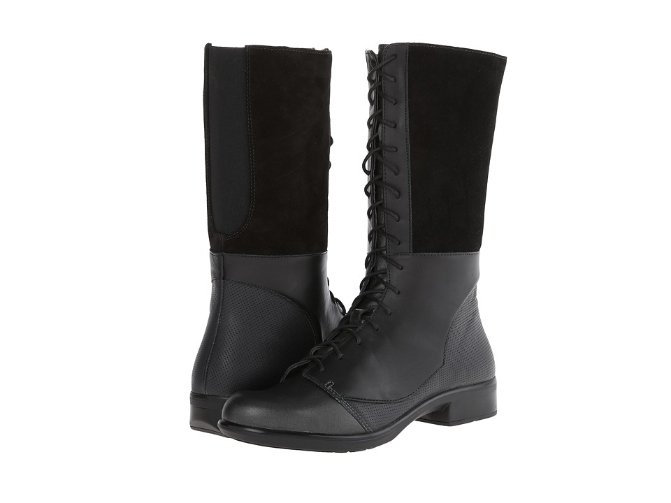 Naot Footwear - Tide (Metallic Road Leather/Onyx Leather/Black Suede/Jet Black Leather) Women's Boots