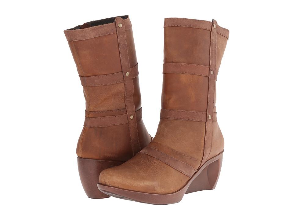 Naot Footwear - Moon (Carob Brown Leather/Saddle Brown Leather/Tan Brown Leather) Women