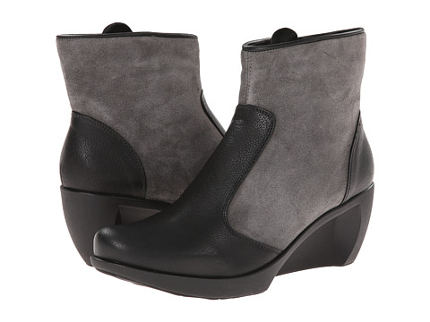 Naot Footwear - Sky (Caviar Leather/Gray Suede) Women's Boots