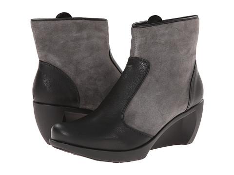 Naot Footwear - Sky (Caviar Leather/Gray Suede) Women