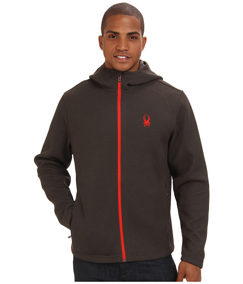Spyder - Upward Full Zip Mid Weight Core Sweater (Osetra/Volcano) Men