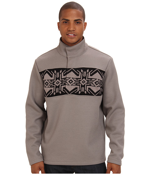 Spyder - Nordic Henley Mid Weight Core Sweater (Graystone) Men