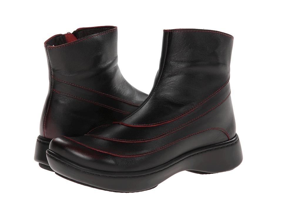 Naot Footwear - Tellin (Volcanic Red Leather) Women's Zip Boots