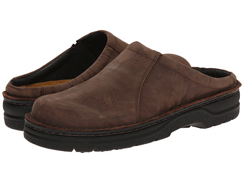 Naot Footwear - Bjorn (Carob Brown Leather) Men's Slip on Shoes