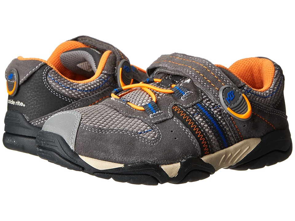 Stride Rite - M2P Knox (Little Kid) (Grey/Orange) Boy's Shoes