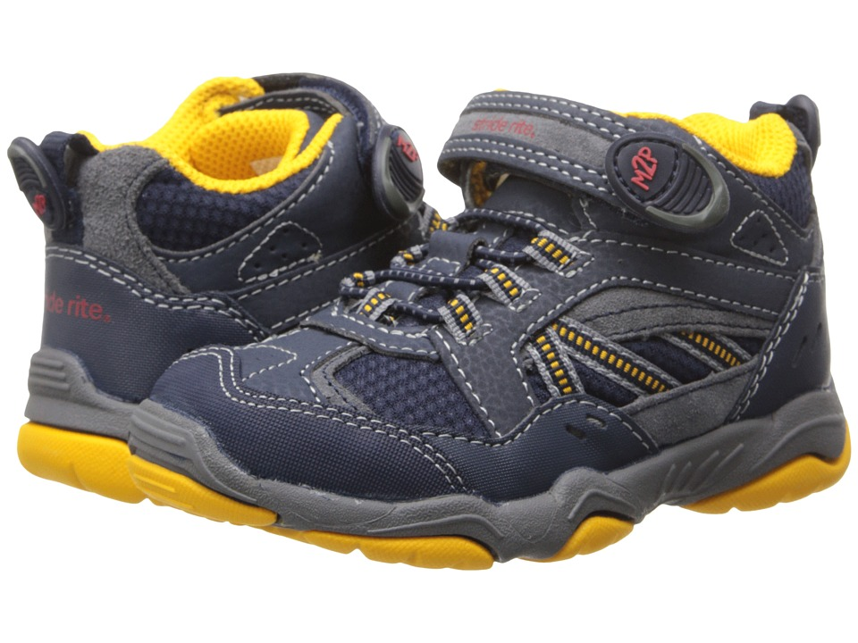 Stride Rite - M2P Fleet (Toddler/Little Kid) (Navy/Grey) Boy's Shoes