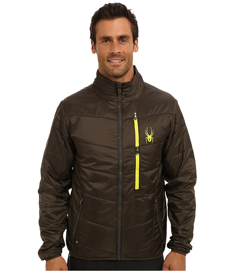 Spyder - Mandate Sweater Weight Insulator Jacket (Osetra/Acid) Men's Coat