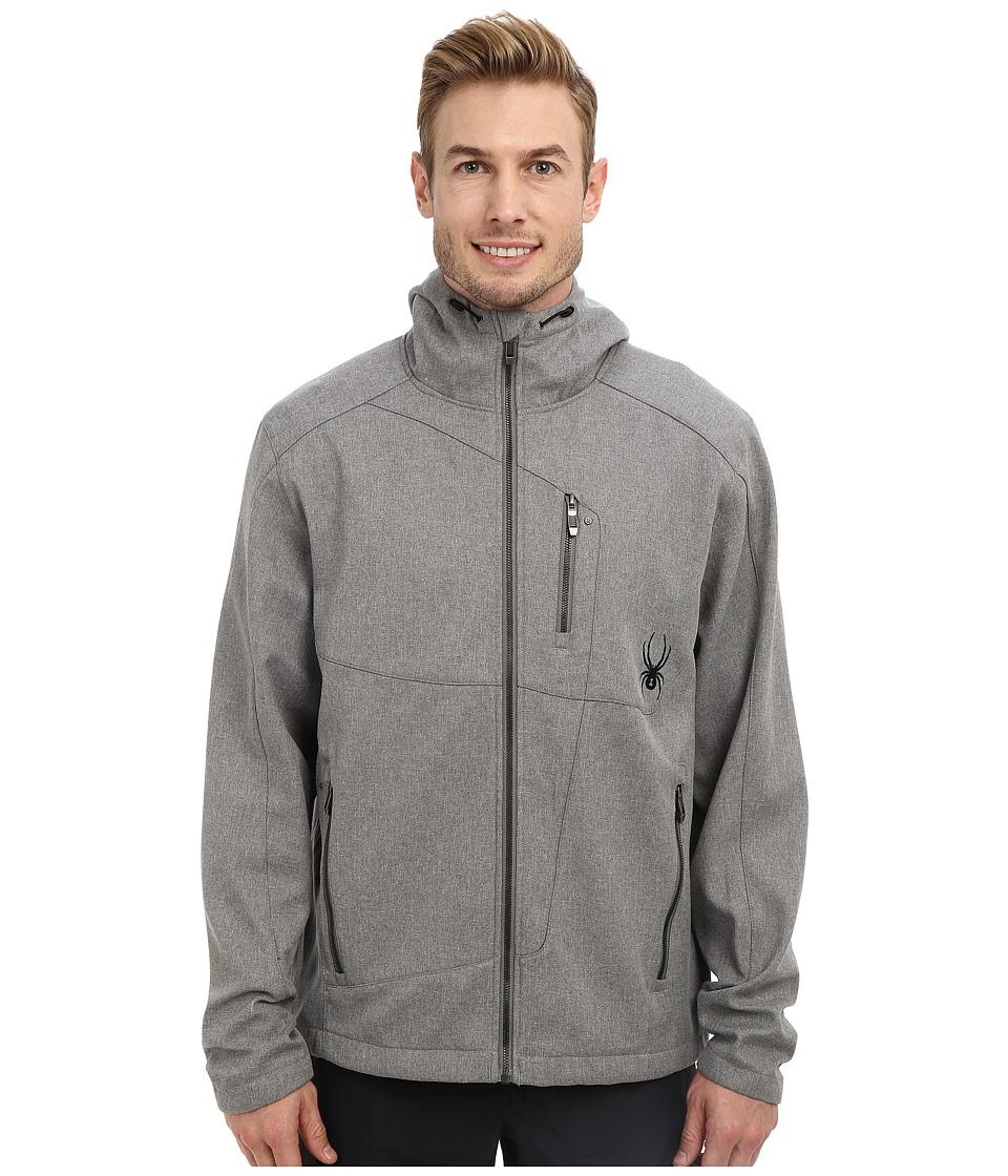 Spyder - Patsch Novelty GT Softshell Jacket (Graystone Tech Flannel/Black) Men