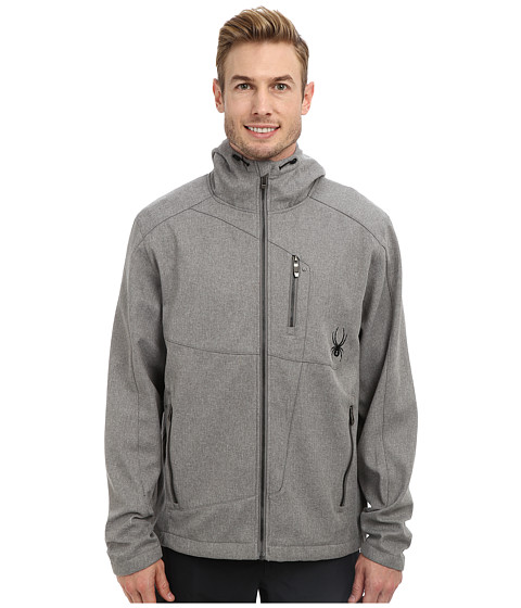 Spyder - Patsch Novelty GT Softshell Jacket (Graystone Tech Flannel/Black) Men's Coat
