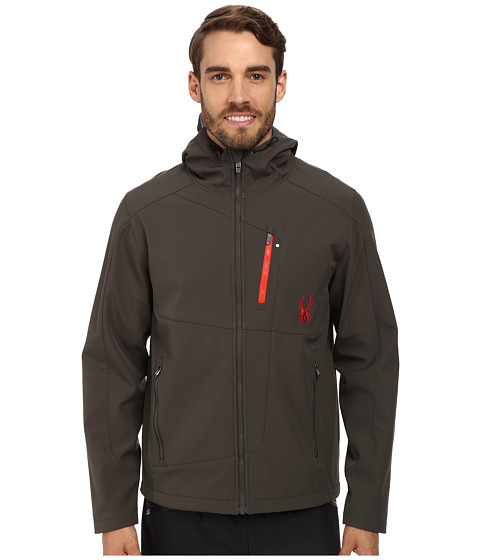 Spyder - Patsch GT Softshell Jacket (Osetra/Volcano) Men