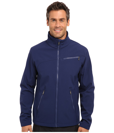 Spyder - Fresh Air Softshell Jacket (Space/Graystone) Men's Coat