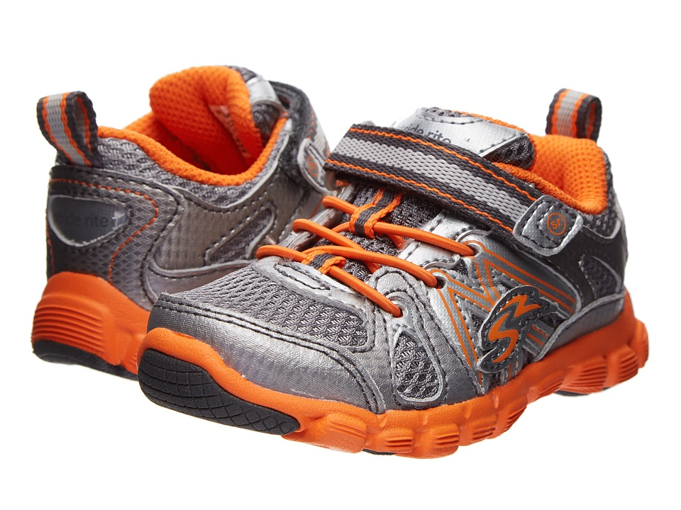 Stride Rite - Propel A/C (Toddler) (Grey/Orange) Boy