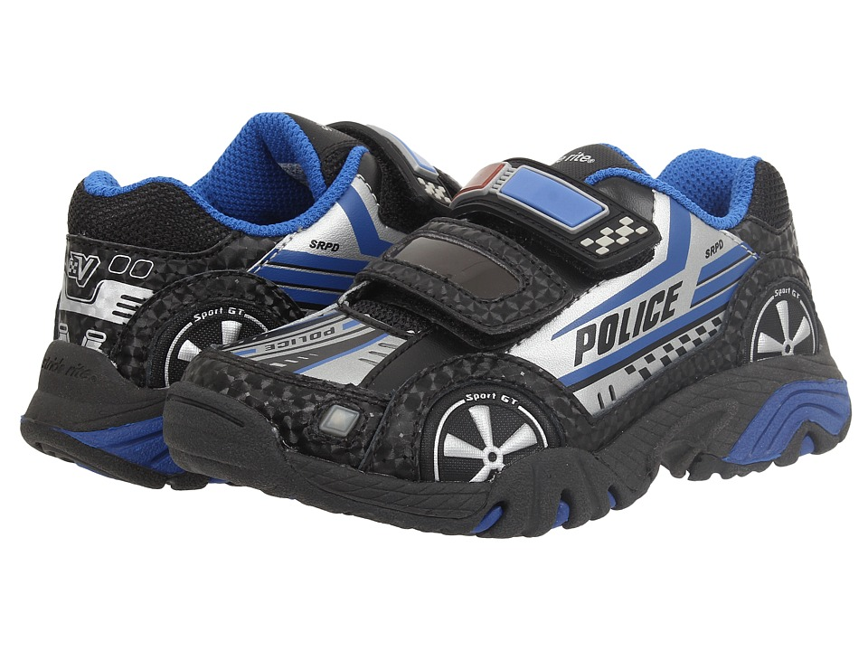 Stride Rite - Vroomz Police Car (Toddler/Little Kid) (Black/Silver) Boy