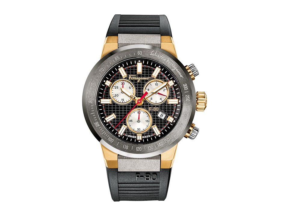 Salvatore Ferragamo - F-80 F55020014 (Titanium/Gold) Watches