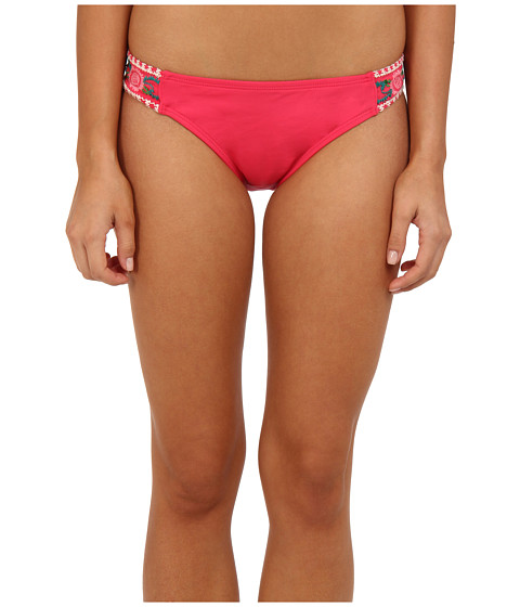 Lucky Brand - French Tapestry Tab Hipster (Coral) Women's Swimwear