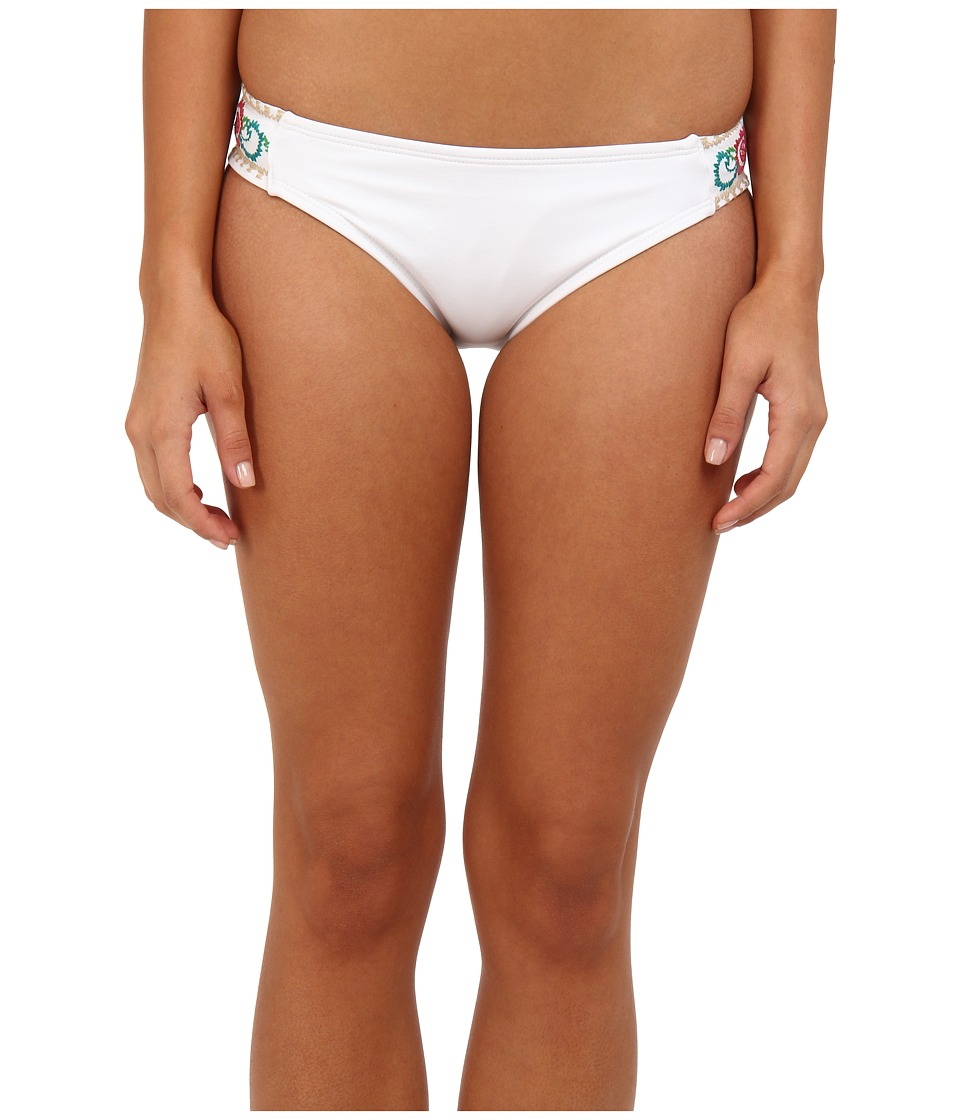 Lucky Brand - French Tapestry Tab Hipster (White) Women's Swimwear