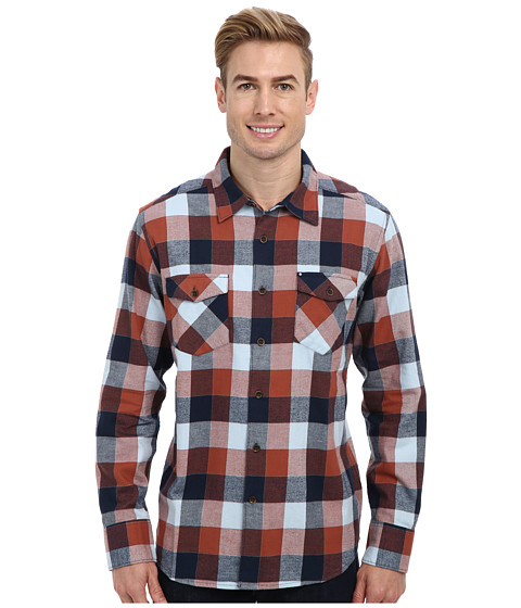 Quiksilver - Aikens Lake L/S Woven Shirt (Ahi Red) Men's Clothing