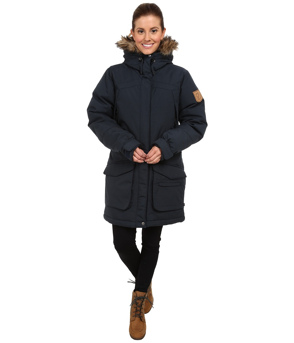 Fjallraven - Kyla Parka (Dark Navy) Women's Coat