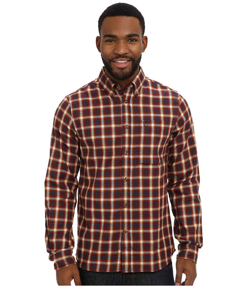 Fj llr ven - Stig Flannel Shirt (Deep Red) Men's Long Sleeve Button Up