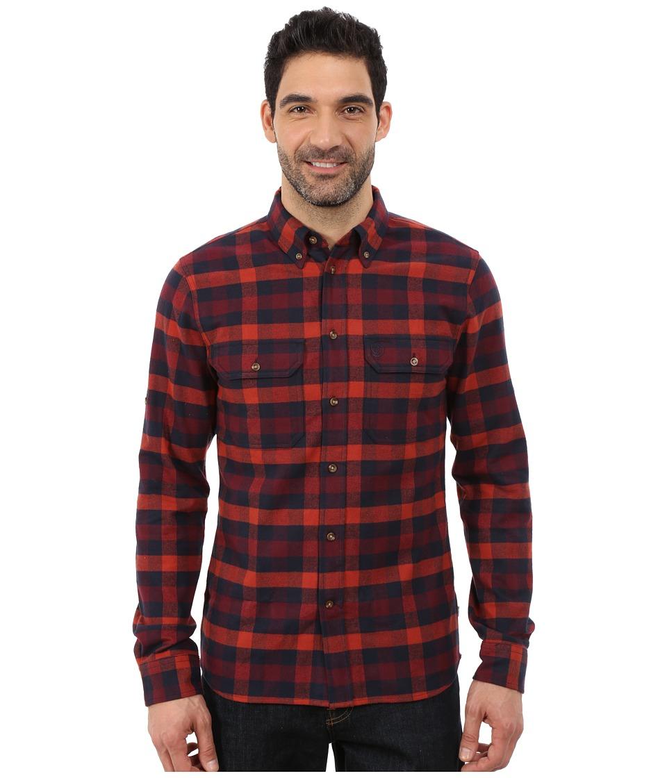 Fj llr ven - Skog Shirt (Navy) Men's Long Sleeve Button Up