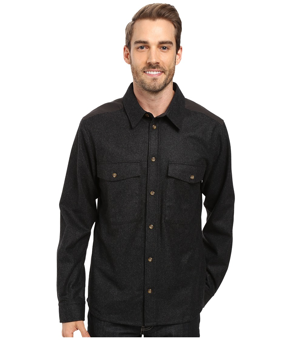 Fj llr ven - Ovik Wool Shirt (Dark Grey) Men's Long Sleeve Button Up
