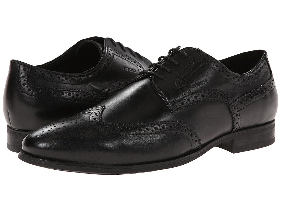 Geox - U Albert 2Fit 3 (Black Oxford) Men's Lace Up Wing Tip Shoes