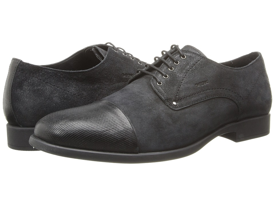 Geox - U Journey 15 (Black) Men's Lace Up Cap Toe Shoes