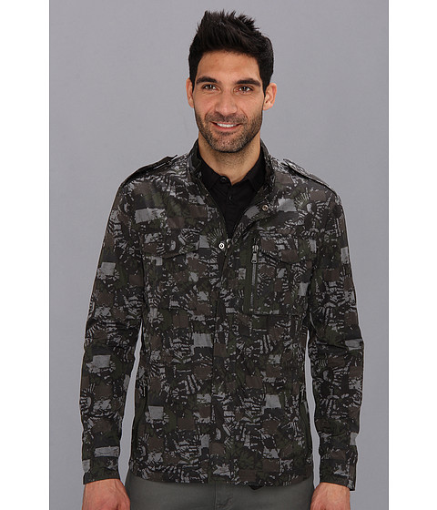 Kenneth Cole Sportswear - Military Two-Pocket Jacket (Wood Forest Combo) Men's Coat