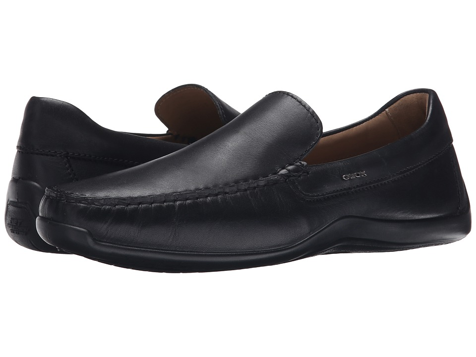 Geox - U Xence Mox 5 (Black Oxford) Men's Slip on Shoes