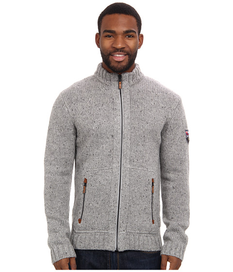 Obermeyer - Telluride Cardigan (Silver) Men's Sweater