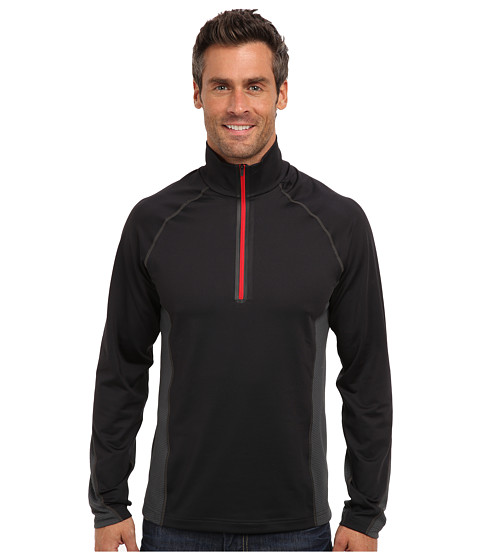 Obermeyer - Flex 75 Dri-Core Top (Black) Men's Clothing