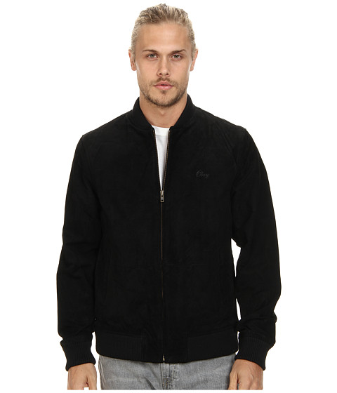Obey - Downtown Suede Jacket (Black) Men's Jacket