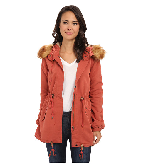 Obey - Knightsbridge Jacket (Burnt Brick) Women's Coat