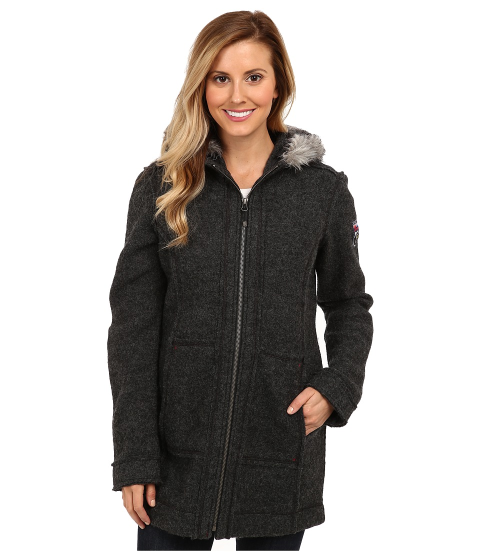 Obermeyer - Ginger Boiled Wool Coat (Titanium) Women's Coat