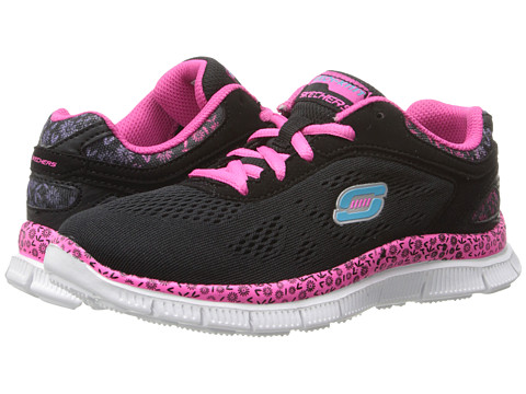 SKECHERS KIDS - Sport Skech Appeal 81888L (Little Kid/Big Kid) (Black/Hot Pink) Girls Shoes
