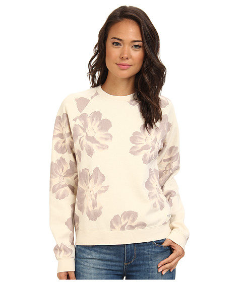 Obey - Seygrid Crew Neck Fleece (Cream) Women's Long Sleeve Pullover