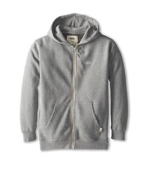 Vans Kids - Core Basics Zip Hoodie II (Big Kids) (Concrete Heather) Boy's Sweatshirt