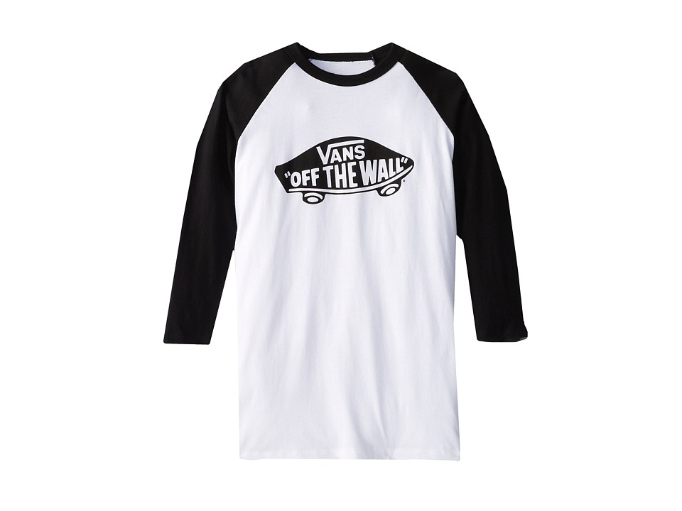 Vans Kids - OTW Raglan (Big Kids) (White/Black) Boy's Long Sleeve Pullover