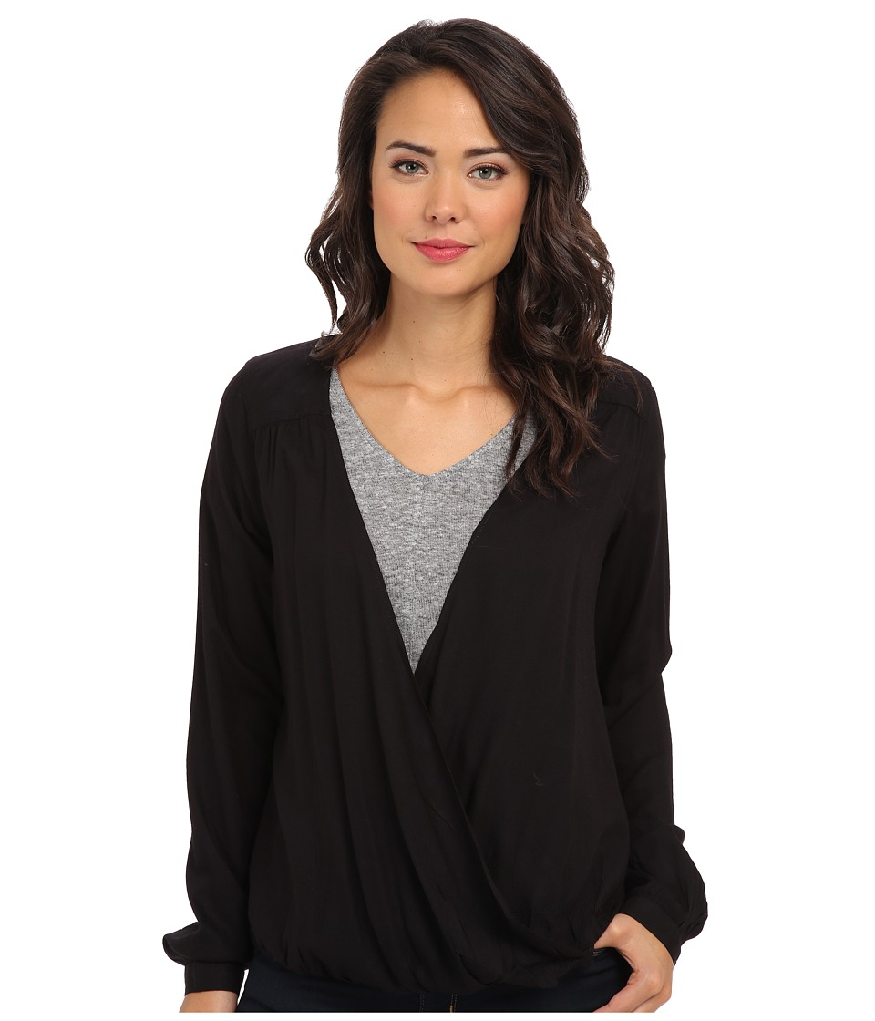 Obey - Liz L/S Woven Blouse (Black) Women's Blouse