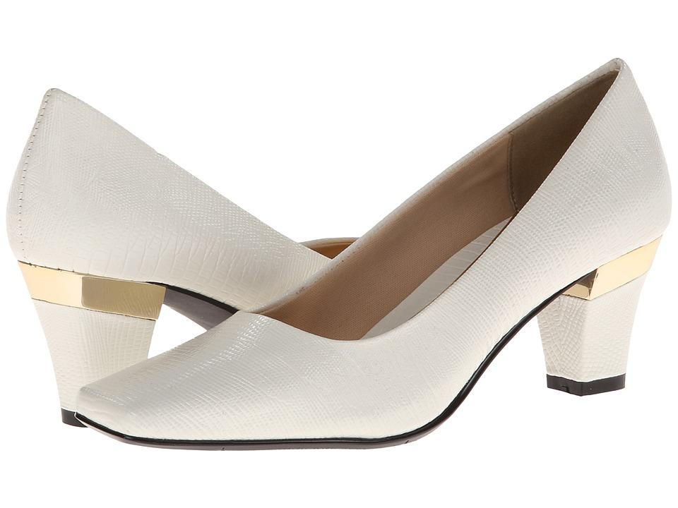 J. Renee - Mary (White Lizard Print) Women's Slip-on Dress Shoes
