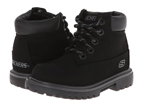 SKECHERS KIDS - Mecca - Bunkhouse 93158N (Toddler) (Black) Boys Shoes