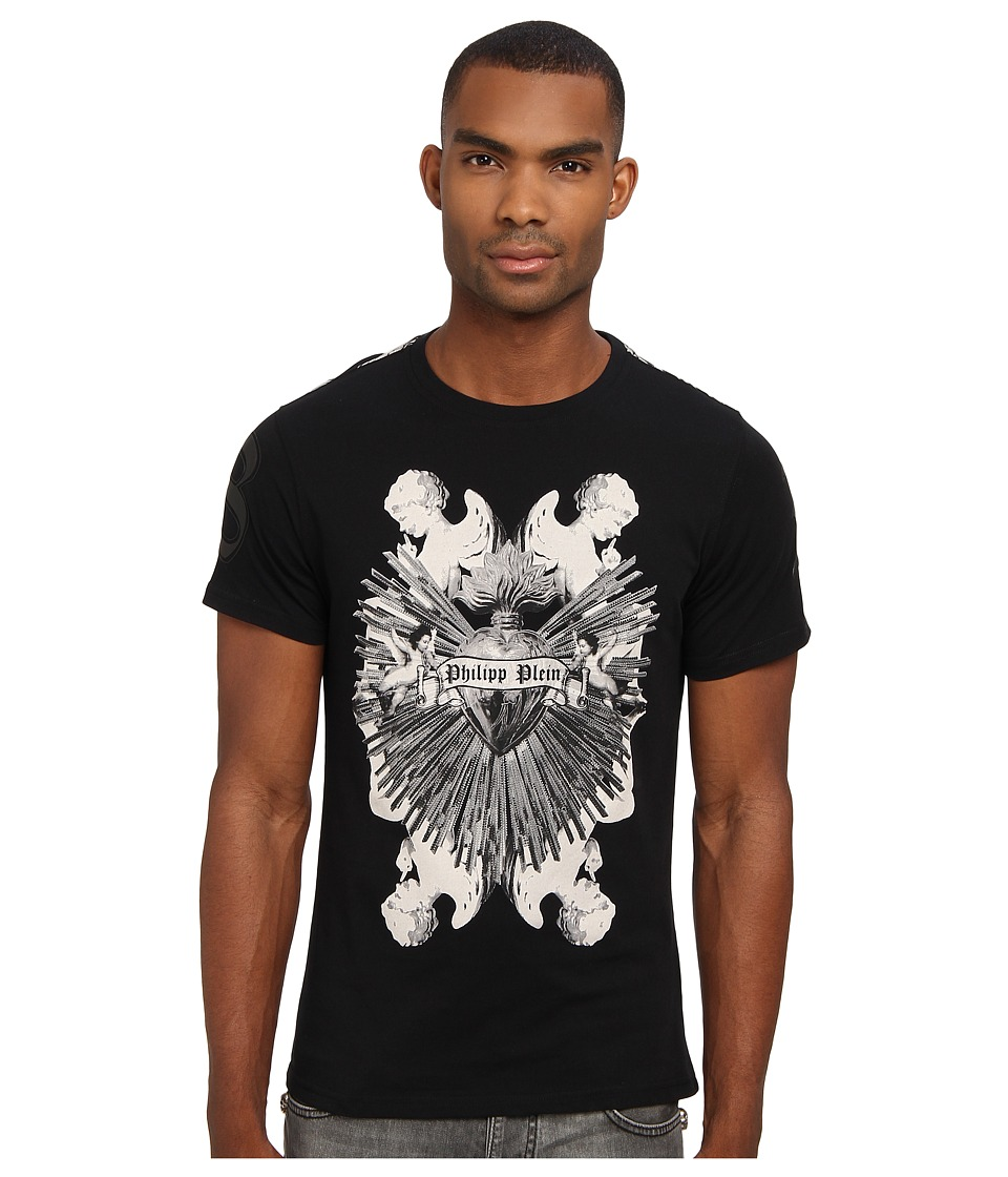 Philipp Plein - Bright Heart Tshirt (Black) Men's T Shirt