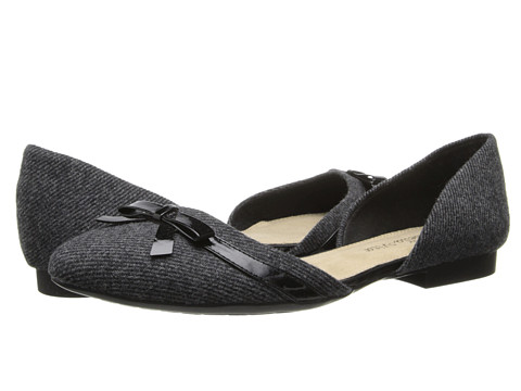Bella-Vita - Olivia (Black Herringbone/Black Patent Bow) Women