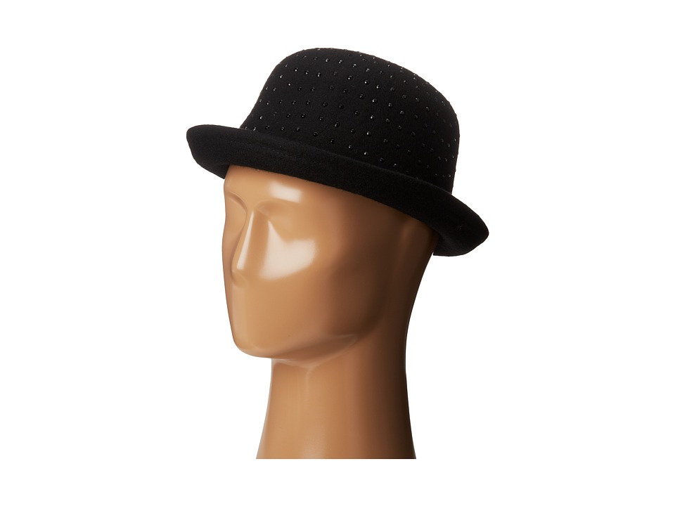 BCBGMAXAZRIA - Diamonte Bowler (Black) Traditional Hats