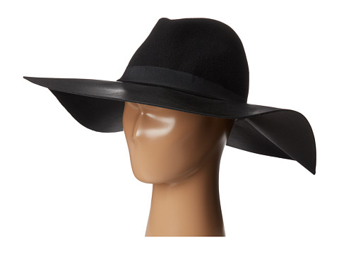 BCBGMAXAZRIA - Pleather Felt Floppy (Black) Traditional Hats