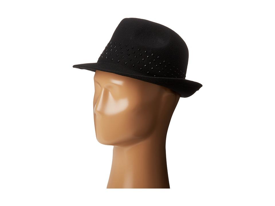 BCBGMAXAZRIA - Diamonte Fedora (Black) Fedora Hats